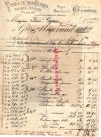 SUISSE -GENEVE- RARE FACTURE 1895- TISSUS PLUMES DUVETS-GROS ET MEGEVAND- 9 PLACE DU MOLARD- - Svizzera