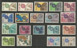 18 Stamps DIFFERENT - MNH - Europa-CEPT - Art - 1967 - 1967