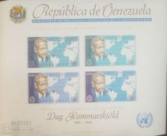 O) 1963 VENEZUELA, NOBEL PEACE PRIZE 1961 -DAG HAMMARSKJOLD AND WORLD SECRETARY GENERAL OF THE UN - MNH - Venezuela