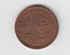 Gibraltar 2p Coin Lighthouse 2000 Circulated - Gibraltar