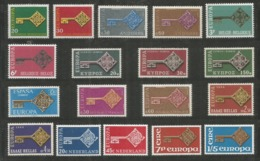 18 Stamps DIFFERENT - MNH - Europa-CEPT - Art - 1968 - 1968