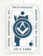 Cp,philosophie & Pensées , GRANDE LOGE DE FRANCE ,1988, 79,Parthenay , Conférence De Jean Verdun ,n° 63/150 - Philosophie & Pensées