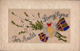 CPA Embroidered Silk LLong Time Ago, For Auld, - Embroidered