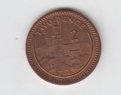 Gibraltar 2p Coin Keys 1990 Circulated - Gibraltar