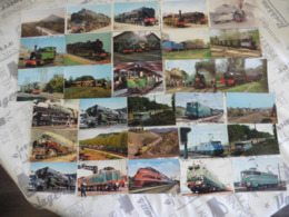 LOT  DE  137  CARTES  POSTALES   DE TRAINS - Cartes Postales