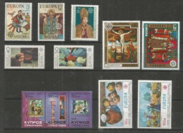 12 Stamps DIFFERENT - MNH - Europa-CEPT - Art - 1975 - Europa-CEPT