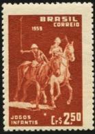 BRAZIL 1959 9th Children's Games Rio De Janeiro Boy Polo Horse Horses Animals Fauna MNH - Horses