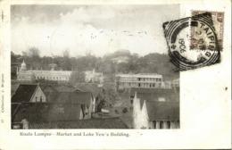 Malay Malaysia, KUALA LUMPUR, Market And Loke Yew's Building (1906) Postcard - Malaysia
