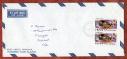 Luftpost, Fische Mit Aufdruck OHMS, Penrhyn Nach Auckland 1981 (79070) - Penrhyn