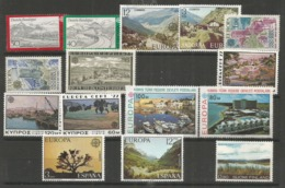 15 Stamps DIFFERENT - MNH - Europa-CEPT - Art - Nature - 1977 - Europa-CEPT