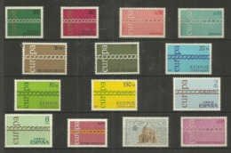 14 Stamps DIFFERENT - MNH - Europa-CEPT - Art - 1971 - 1971