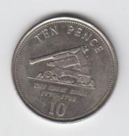 Gibraltar 10p Coin Siege Of Gibraltar 2008 Circulated - Gibraltar