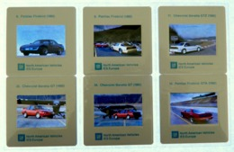 6 X Diapositive - Voiture - Avion - PONTIAC FIREBIRD - CHEVROLET BERETTA - NORTH AMERICAN VEHICLES IES EUROPE - G.M. - Diapositives