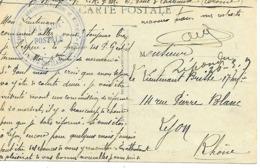 26-cachet Hôpital-Centre De Rééducation Physique Et Militaire à St-Paul-trois-Châteaux Sur CP-cachet Rare - Guerra De 1914-18