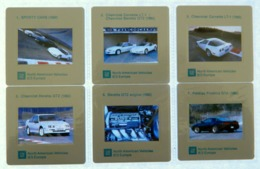 6 X Diapositive - Voiture - PONTIAC FIREBIRD GTA - CHEVROLET BERETTA CORVETTE - NORTH AMERICAN VEHICLES - G.M. - Diapositives