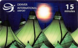 Denver International Airport 15 Minute Phone Card - Phonecards