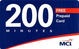 MCI 200 Minutes Free Prepaid Card / Phone Card - Zonder Classificatie