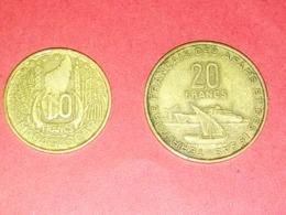 MONNAIES MADAGASCAR 10 FRANCS 1953 ET 20 FRANCS 1968 TERRITOIRE FRANÇAIS DE AFARD ET DES ISSAS - Madagaskar