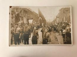 Quaregnon  CARTE PHOTO  Jeunes Gardes Socialistes JSG  (+/- 1930)  SOCIALISME - Quaregnon
