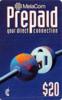 $20 MelaCom Prepaid Phone Card - Phonecards