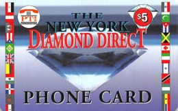 The New York Diamond Direct $5 Phone Card - Unclassified