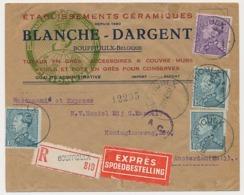 Censored Registered Express Cover Belgium  - Netherlands 1943 WWII - Guerre 40-45