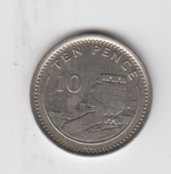 Gibraltar 10p Moorish Castle 1994 Circulated - Gibraltar