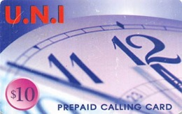 $10 U.N.I. Prepaid Calling Card - Unclassified