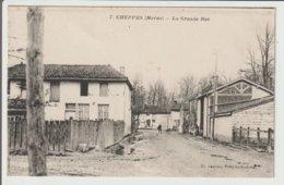 FRANCE / CPA DE CHEPPES / LA GRANDE RUE / 1918 - France