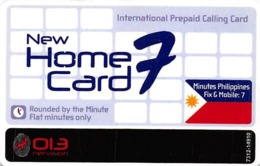 New Home Card International Prepaid Calling Card OLA Netvision - Unclassified