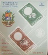O) 1962 VENEZUELA, IMPERFORATE, MALARIA ERADICATE - WHO DRIVE TO ERADICATE -ANOPHELES MOSQUITO - EMBOSSED SC C819a, M - Venezuela