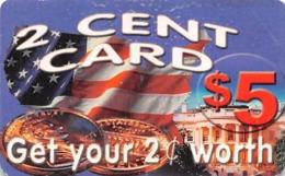 2 Cent Card $5 Phone Card Qwest - Zonder Classificatie