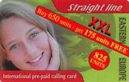 Straight Line XXL Eastern Europe International Prepaid Calling Card - Unclassified