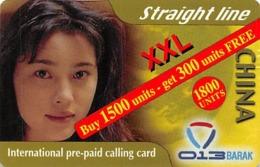 Straight Line XXL China International Prepaid Calling Card - Phonecards