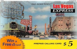 $5 Las Vegas Express Prepaid Calling Card - Non Classificati