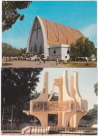 Gf. N'DJAMENA. 2 Cartes. La Cathédrale & Le Rond-Point De L'Unité - Ciad