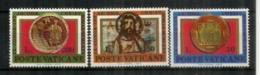 Archéologie Chrétienne , Peintures Du VI ème Siècle., Des Catacombes De Rome. 3 Timbres Neufs ** Vatican - Archéologie