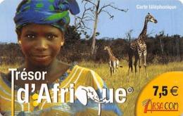 Tresor D'Afrique Arsa Com Phone Card - Phonecards