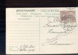 Hilversum - Langebalk - 1907 - Poststempel
