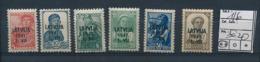 LATVIA LETTONIE WWII YVERT 1/6 MNH - Lettonie