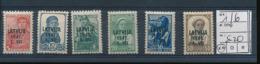 LATVIA LETTONIE WWII YVERT 1/6 MNH - Lettland