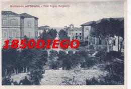 GROTTAMMARE SULL' ADRIATICO - VIALE REGINA MARGHERITA VIAGGIATA 1933 ANIMAZIONE - Fermo
