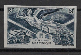 Martinique - 1946 - PA N°Yv. 6 - Victoire WW2 - Non Dentelé / Imperf. - Neuf Luxe ** / MNH / Postfrisch - Airmail