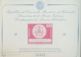 O) 1962 VENEZUELA, VENEZUELAN CARDINAL - HUMBERTO QUINTERO- SC C785a - SOUVENIR MNH - Venezuela