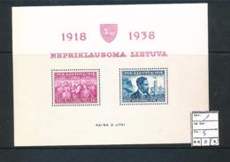 LITHUANIA MS YVERT 1 LH - Lituanie