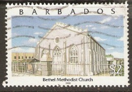 Barbados  2000   SG  1163  Bethel Methodist Church  Fine Used - Barbados (1966-...)