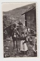 BB071 - SUISSE - En Valais - Scène Et Type - Enfants - A Dos D'âne - VS Valais