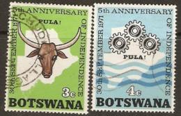 Botswana   1971  SG 280,1 5th   Anniversary Independence  Fine Used - Botswana (1966-...)