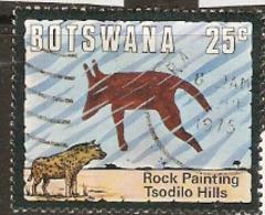 Botswana   1975  SG 348 Rock Painting  Fine Used - Botswana (1966-...)