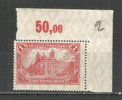 Germany Reich 1920 Year , Mint Stamp MNH (**) - Germany